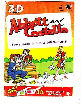 Abbott and Costello 3D 1 (1953): FREE to combine- in Good/Very Good condition