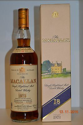 Single Malt Scotch Whisky MACALLAN 18 years old Vintage 1973 75cl with box