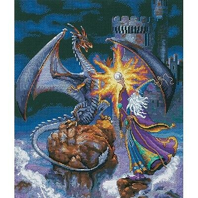 """Gold Collection Magnificent Wizard Counted Cross Stitch Kit-12""""X14"""" 18 Count NEW"""