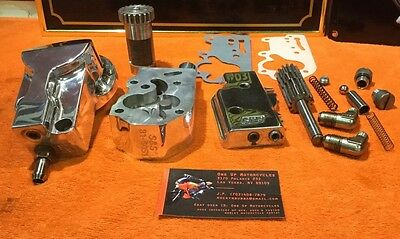 Custom Harley Show Polished S&S Evo Billet Oil Pump Package