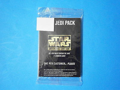 Star Wars CCG Card Jedi Pack (11 cards). Decipher, 1996. Unopened/Unused