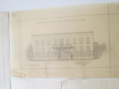 Large set of A2 Architectural drawing Architects midcentury 1920s