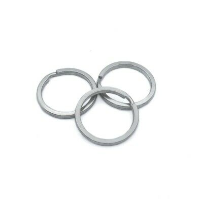 10 x Stainless Steel 30mm Round Wire Split Rings Keyrings - Medium Strength