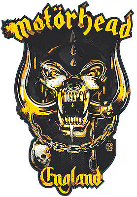 Motorhead England shaped vinyl sticker 160mm x 120mm Lemmy