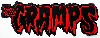 The Cramps logo contoured self cling vinyl sticker for glass 220mm x 80mm