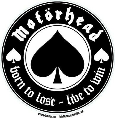 Motorhead circular vinyl sticker 120mm Lemmy Born To Lose