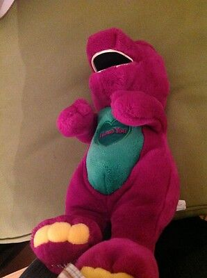 barney the dinosaur i love you musical plush toy 16 inches tall very old in vgc