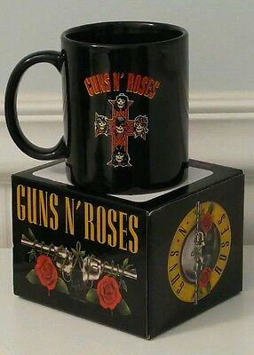 Coffee mug Guns N' Roses Cross Logo Black Ceramic Coffee Cup