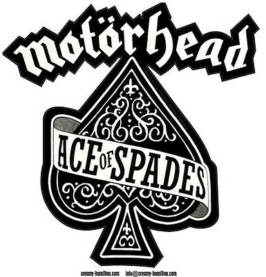 Motorhead 'Ace of Spades' contoured vinyl sticker 90mm x 90mm Lemmy