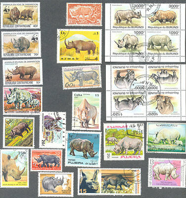Rhinoceros-Rhinos 25 all different collection