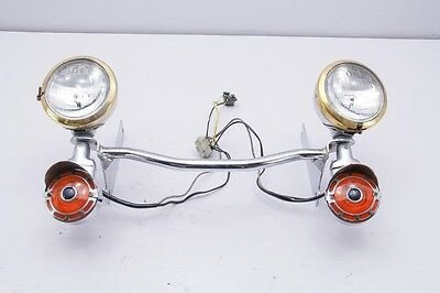 90 Harley Electra Glide FLHT Front Turn Signal Flasher Light Bar GOLD TRIM