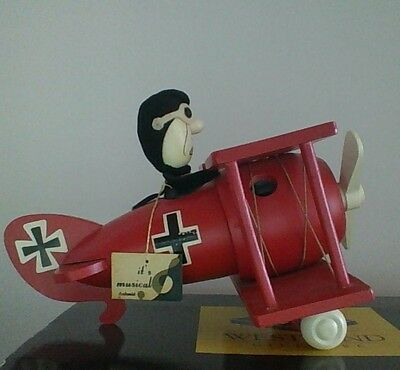 Vintage Peanuts Snoopy Red Baron Character Schimid Music Box Good Condition