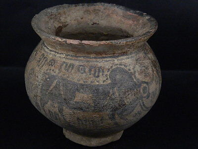 Ancient Large Size Teracota Painted Pot With Bulls Indus Valley 2500 BC #PT15413