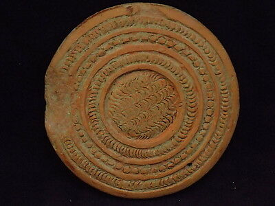Ancient Large Size Teracota 2 Sided Seal Indus Valley 2000 BC  #SG8520