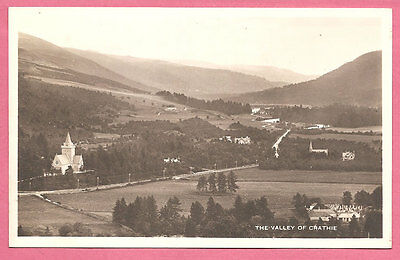 The Valley of Crathie, Aberdeenshire, Scotland postcard. Real Photo.