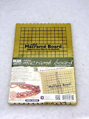 """The Beadsmith Small Macrame Board 6"""" x 9"""" Grid - Jewellery Making Tools Supplies"""