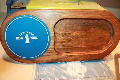 Blue Nun Imported Champagne Beer wood tray, cutting tray cheese server vtg