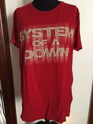 System Of A Down red RARE T-Shirt Tultex M Med Medium concert tour shirt tee