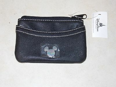 Disney Parks Mickey Minnie Mouse Coin Purse Black New with Tags Free Shipping