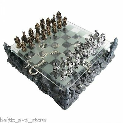 Gothic Gifts Game of Chess Set DRAGON FIGURINES Thrones Dungeon Decor