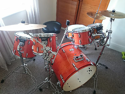 Pearl ELX Export Series 6 Peice Drum Kit and Cymbals