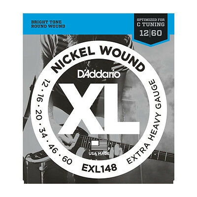 D'Addario EXL148 Nickel Wound Extra-Heavy Electric Guitar Strings .012-.060
