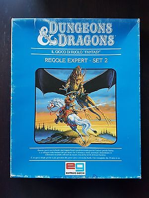 D&D DUNGEONS & DRAGONS REGOLE EXPERT SET 2 1985 Editrice Giochi Scatola blu