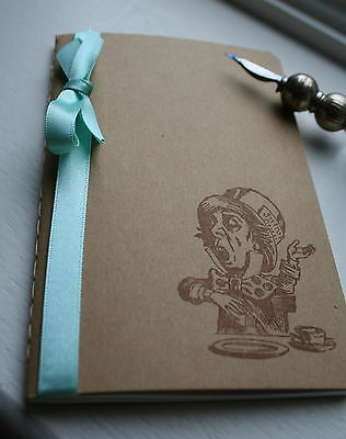 ALICE IN WONDERLAND-MAD HATTER  JOURNAL/NOTEBOOK-Party-Wedding Favour