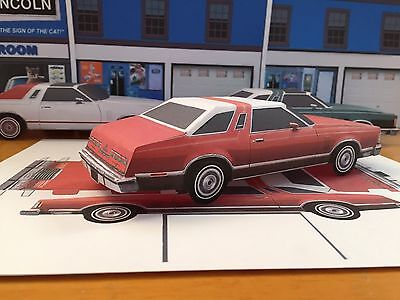 Papercraft 1977 Ford Thunderbird Coupe EZU-build Paper Toy Model Car