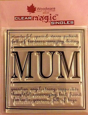 Woodware Clear Magic Mum stamp FRS110