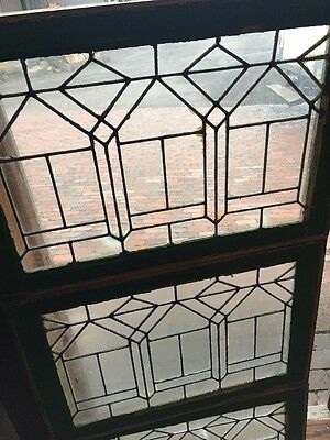 Sg 1029 Three Available Price Separate Leaded Glass Window 19 X 28