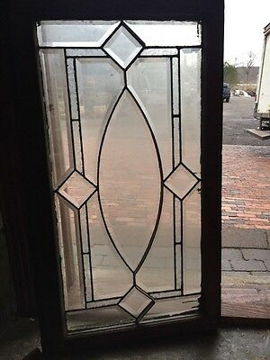 Sg 1032 Antique Beveled Glass Transom Window 23 X 40.5""