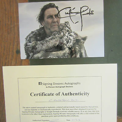 Ciaran Hinds Signed Photo Mount Game of Thrones Mance Rayder Autograph COA UACC