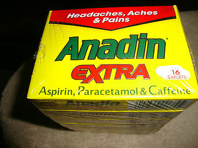 ANADIN EXTRA CAPLETS BUY B/W 16 - 192 CAPLETS - For Headaches, Aches & Pains