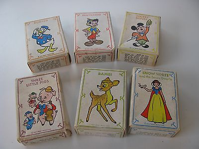 6 Vintage Disney card games - Russell Mfg - Lot of 6 games