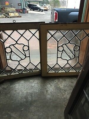 Sg 1036 Two Available Price Separate Antique All Beveled Glass Window 22 .5X 21.