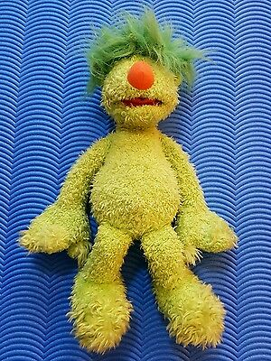"Jim Henson The Hoobs ~ TALKING GROOVE ~ 16"" Green Soft Plush Toy"
