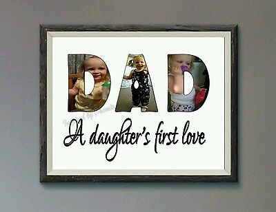 Dad a daughters first love personalised print gift present birthday fathers day