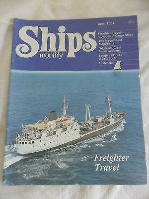 Ships Monthly Apr 84 Freighter Trtavel Cargo Ships Magdalena Minesweeper Docks
