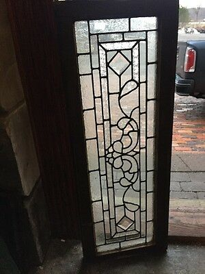 "Sg 1039 Antique Textured Glass Transom Window 14"" X 37.25"""