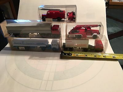 plastic collectible trucks by Wiking of Germany and Mojorette