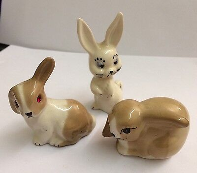 3x  Szeiler Rabbits 1960's In Great Condition