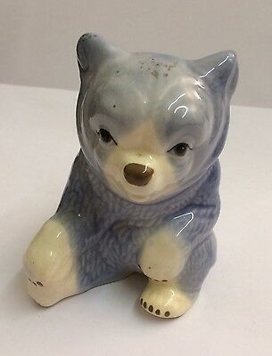 Large Szeiler Blue Bear 1960's In Great Condition