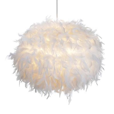 White Feather Ball LIGHT SHADE LAMP SHADES Home LIGHTING LAMPSHADE LIGHTSHADE