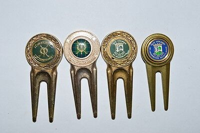 Golf Divot Tool w/ Markers St. Andrews Old Course Scotland Lot of 4