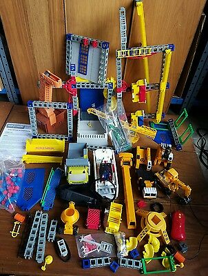 Large Lot Of Rokenbok Building Parts Vehicles Pieces Trucks Tractor Machines