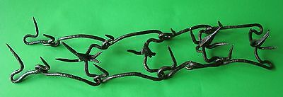 SUPERB ANTIQUE 17 th CENTURY SPIKED DOG COLLAR WROUGHT IRON CA 1650  MUST SEE