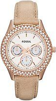 Fossil Women's ES3104 Stainless Steel Analog White Dial Watch