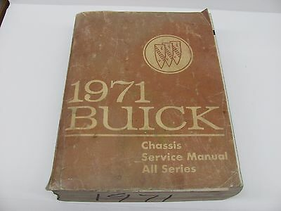 1971 Buick Chassis Service Shop Repair Manual - All Series