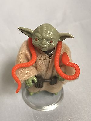 Vintage Star Wars EST Yoda w/ Orange Snake Action Figure